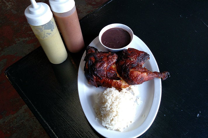 Rotisserie chicken at Caveman Kitchen